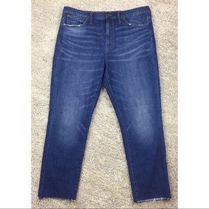 Madewell Slim BoyJean High Rise Raw Hem Edition